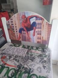 Título do anúncio: Cama do homem Aranha infantil + colchão D20 sonolider 88x12