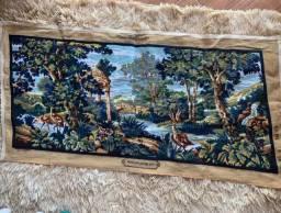 Tela tapeçaria francesa bordada à mão