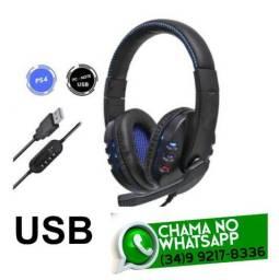 Headfone para Computador com Plug Usb KP-359