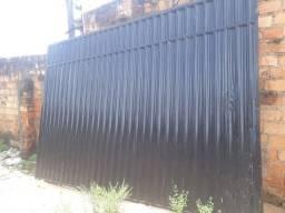 Portão galvanizado preto