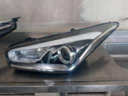 Farol Esquerdo Carona Hyundai Hb20X Mascara Negra Detalhe