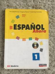 Livro Ensino Línguas Espanhol Ahora Volume 1 Editora Santillana/Moderna Impecável - Sem Cd