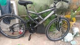 Título do anúncio: Bicicleta com suspensão dianteira e traseira