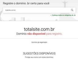 Título do anúncio: Vendo domínio brasil para agência - totalsite