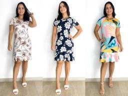 Título do anúncio: Kit com 10 vestidos babado moda evangélica atacado