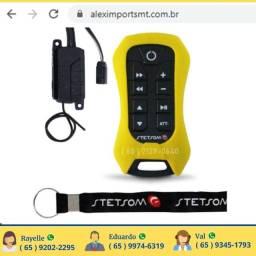 Controle de Som Automotivo Amarelo Sx2 Longa Distancia Bom