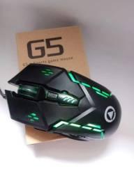 Mouse gamer 3200 dpi/6 botões/base metal