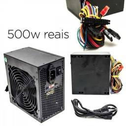 Fonte de PC 500w Real Super silenciosa PROMOÇÃO