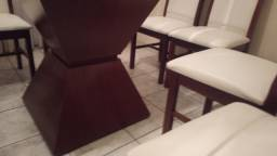Título do anúncio: Mesa em vidro com 8 cadeiras