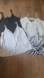 4 blusas tamanho p