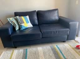 Sofá de courino azul marinho