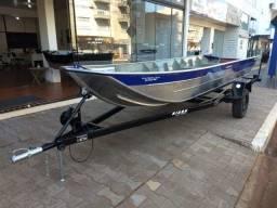 Título do anúncio: Barco de alumínio - 5 metros - semi-chata - Novo - 2021