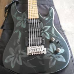 Guitarra Aria Pro 2 Magna Scalopada.