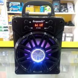 Caixinha de Som Ecopower- 3846 Bluetooth- Micro Sd- Usb- Rádio- FM