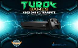Xbox one X 1tb + Gamepass - Loja física - Cartões até 12x