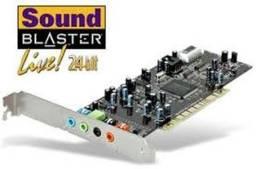 Placa de som Audigy SE for XP, WIN7, WIN8 & WIN10 é Sound Blaster OEM