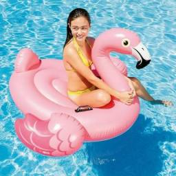Boia Flamingo Inflável Gigante 142cm Intex