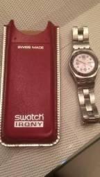 d917a85bda4 Relógio Swatch Irony Ciel Clair Violet (fundo rosa)