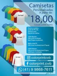 Color print camisetas personalizadas