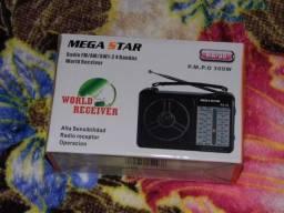 Megastar Um dos melhores radios am/fm/sw de baixo custo produto novo em Poa-rs