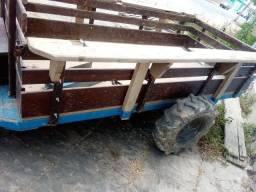 Carreta tracionada -marca Possamai para Micro Trator Yanmar ou Tobatta