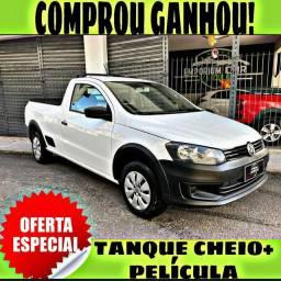 TANQUE CHEIO SO NA EMPORIUM CAR!!! SAVEIRO 1.6 CS ANO 2014 COM MIL DE ENTRADA
