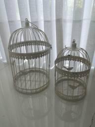 Conjunto gaiolas decorativas