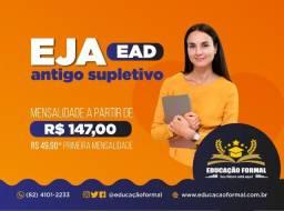 Eja Pro EaD antigo Supletivo a partir R$ 147,00/mês com conclusão a partir 4 meses