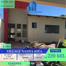 Casa De 3 Quartos - Village Santa Rita - Goiânia