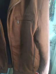 Jaketa de pano marrom