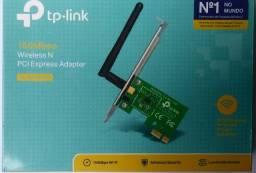 Placa De Rede Tp-link Wireless 150mbps Pci Express - Tl-wn781nd - nova - aceito cartão