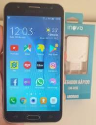 Galaxy J5! 16 Gigas! Internet 4G! Com Carregador e Película de Vidro