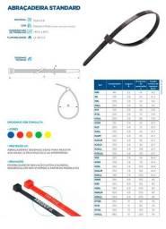 Abraçadeira de nylon 20x3,7mm (preta) (cento)