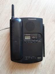 Telefone sem fio Panasonic KX-TC1501B com secretária eletrônica (usado)