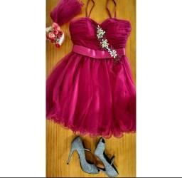 Vestido pink princesa