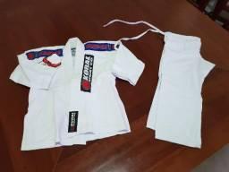 Conjunto kimono infantil M0 novo koral