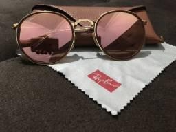 Óculos Ray-Ban Round Rose original codigo RB3517