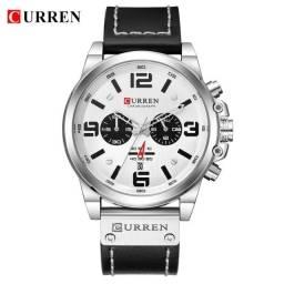 Título do anúncio: Relógios Curren com cronógrafo, caixa em aço inoxidável e pulseira de couro.