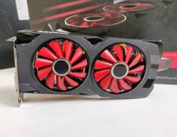RX 570 semi nova na caixa