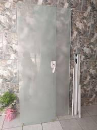 Box de vidro 8mm jateado  com chave