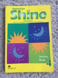 Livro Inglês American Shine 4 Activity book Exercícios Macmillan Brasil Novo Nunca Usado!