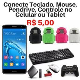 Título do anúncio: Adaptador OTG V8 Para Celular e Tablet Android