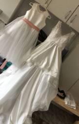 Vestido noiva mulet e daminhas