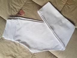 Legging Básica Branca Feminina de Cós Médio