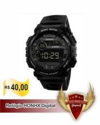 Relógio Digital Honhx Calendário - Cronômetro - Luz - Alarme