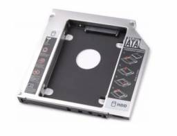Adaptador Caddy Para Segundo Hd Ou Ssd 9.5mm ou 12mm P/ Notebook Novo, Lacrado