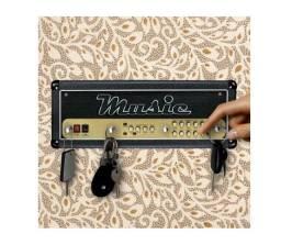 Título do anúncio: Porta Chaves Decorativo Mdf Musica Rock Amplificador_c342