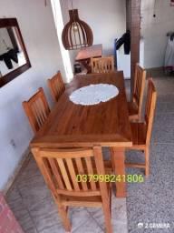 Mesa em madeira demolição (peroba rosa)