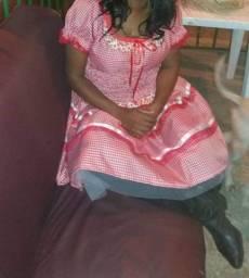 Vestido de Quadrilha Tamanho Médio