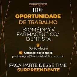 Título do anúncio: Biomédico/Farmacêutico/Dentista